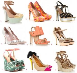 Des chaussures couleurs pour l'été 2012